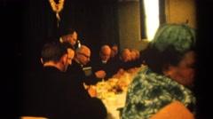 1964: an indoor family party is seen RACINE, WISCONSIN Stock Footage