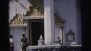 1962: cultural visit to a temple BANGKOK Stock Footage