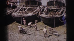 1962: in primitive days it was very hard for the people live that time  Stock Footage