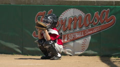Kids playing little league baseball. Stock Footage