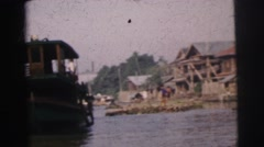 1962: a construction area beside water BANGKOK Stock Footage