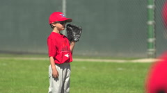Kids playing little league baseball. Stock Footage