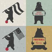 Set Sign Fun Bears Stock Illustration