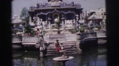 1962: looks very big and beautiful what a wonderful architectural art CALCUTTA Stock Footage