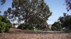 A man going for a run. Stock Footage