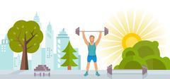 Web Banner Bodybuilding Stock Illustration