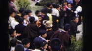 1962: crowd of asian people, young and old, at an outdoor festival CALCUTTA Stock Footage
