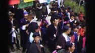 1962: a lot of people walking and going to a traditional site CALCUTTA Stock Footage