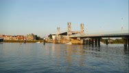 City bridge of Kampen opens, time lapse Stock Footage