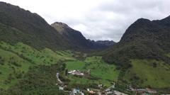 Ecuador Aerial Papallacta Mountains Stock Footage