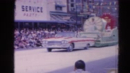 1964: vintage video of parade float featuring the milk queen  HARVARD, ILLINOIS Stock Footage