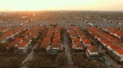 Aerial view of home village in bangkok thailand Stock Footage