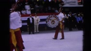 1964: milk days parade man hitting drums marching proudly  HARVARD, ILLINOIS Stock Footage
