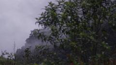 Ecuador driving through foggy mountains 1 Stock Footage