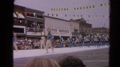 1964: marching band preforming  HARVARD, ILLINOIS Stock Footage