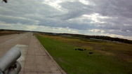 Runway in military airfield Stock Footage
