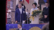 1964: an event to welcome some important politicians in the city hall  HARVARD Stock Footage