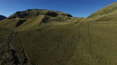 Ecuador hills above the mountain tree line - minimal vegetation Stock Footage