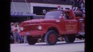 1964: firetruck drives in parade  HARVARD, ILLINOIS Stock Footage