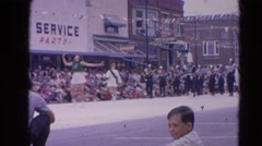 1964: magnificent pageantry through the street amid large crowd  HARVARD Stock Footage