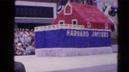 1964: parade going down the street  HARVARD, ILLINOIS Stock Footage