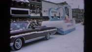 1964: awesome parade with king and queen children of the festival  HARVARD, Stock Footage