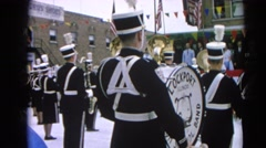 1964: bands of presentation martial showing tracks construed quality  Stock Footage