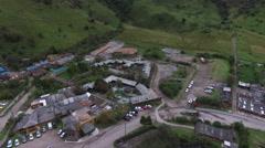 Ecuador Papallacta Resort Aerial Reverse Stock Footage