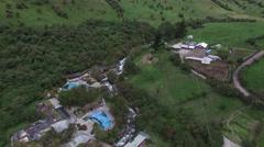 Ecuador Papallacta Resort Aerial Stock Footage