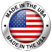Made in usa icon Stock Illustration