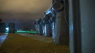 Carhenge Nebraska in night rainstorm timelapse Stock Footage