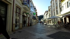 Daily life in Tomar city streets - Portugal Stock Footage