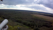 Helicopter flight. Aerial view of forest Stock Footage