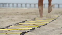 Individuals doing speed and agility training. Stock Footage