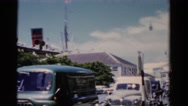 1951: a view of downtown in a typical and peaceful southern city some years ago Stock Footage