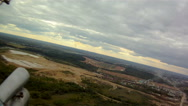 View from helicopter on sand pit Stock Footage