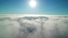 Clouds Aerial 01 Time Lapse marine layer 4K Stock Footage