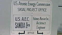 Nuclear test 1963: Project Shoal sign Stock Footage