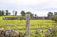 Signpost Pennine Way Stock Photos