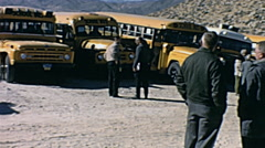 Nuclear test 1963: spectators before the explosion Stock Footage