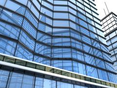 Office building CGI (done in 3d) Stock Illustration