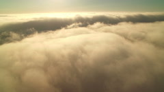 Clouds Aerial 05 Time Lapse marine layer 4K Stock Footage