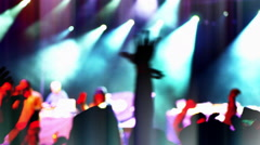 4K People's Hands in AIr, Clapping and Dancin, Concert Crowd Music Party Stock Footage