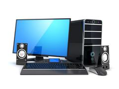 New powerful computer (done in 3d) Stock Illustration