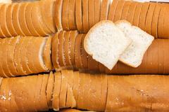 Breads petite white or SANDWICH Stock Photos