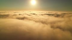 Clouds Aerial 11 Time Lapse marine layer 4K Stock Footage