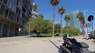 Appartment Buildings And Hotels Near The Shore Stock Footage