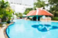Abstract blur outdoor swimming pool Stock Photos