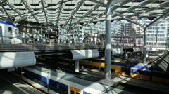 The Hague central railway station, Holland Stock Footage