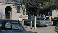 Nuclear test 1963: visitors official parking Stock Footage
